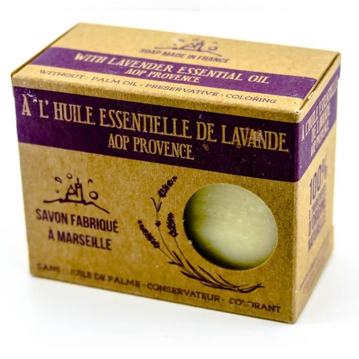 Savon de Marseille à l'Huile Essentielle de Lavande AOP Provence