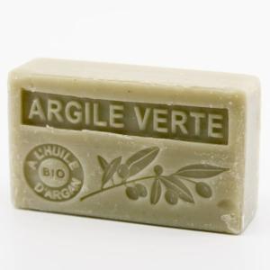 Savon de Marseille parfumé argile verte enrichi à l'huile d'Argan bio