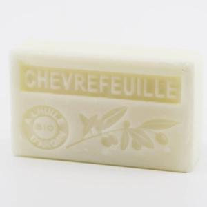 Savon de Marseille parfumé chèvrefeuille enrichi à l'huile d'Argan bio