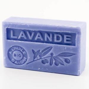 Savon de Marseille parfumé lavande enrichi à l'huile d'Argan bio