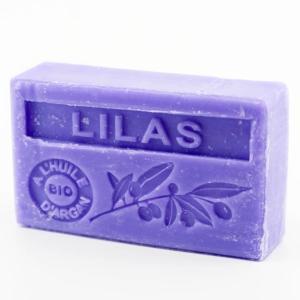Savon de Marseille parfumé lilas enrichi à l'huile d'Argan bio