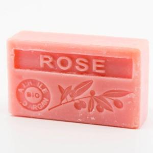 Savon de Marseille parfumé rose enrichi à l'huile d'Argan bio