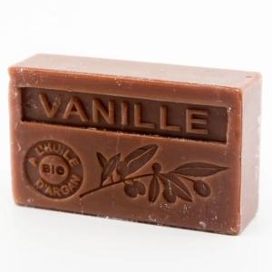 Savon de Marseille parfumé vanille enrichi à l'huile d'Argan bio
