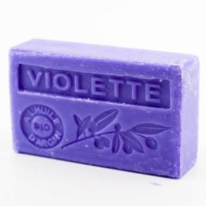 Savon de Marseille parfumé violette enrichi à l'huile d'Argan bio