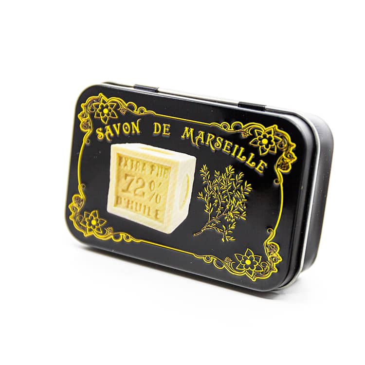 """Boite à savon """"Savon de Marseille """" noire"""